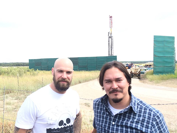 Chris Sanders and Eric Byron of Sanders Drilling